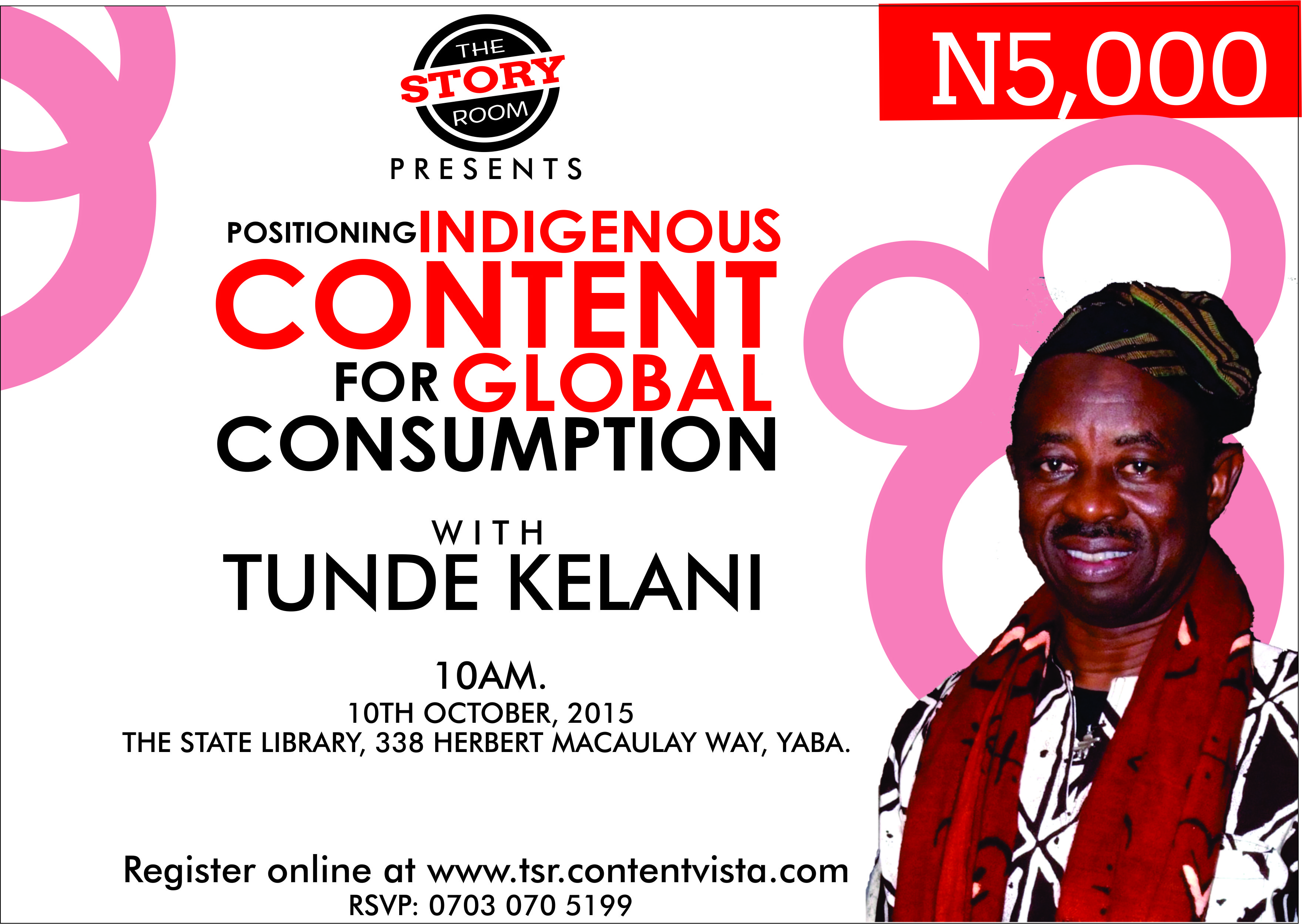 The Story Room: Tunde Kelani Set To Interact With Content Developers
